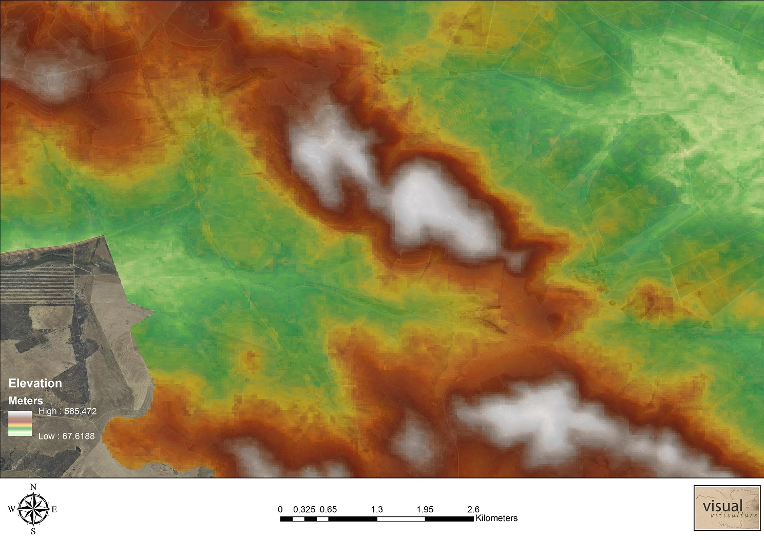 30m Elevation model on farm scale