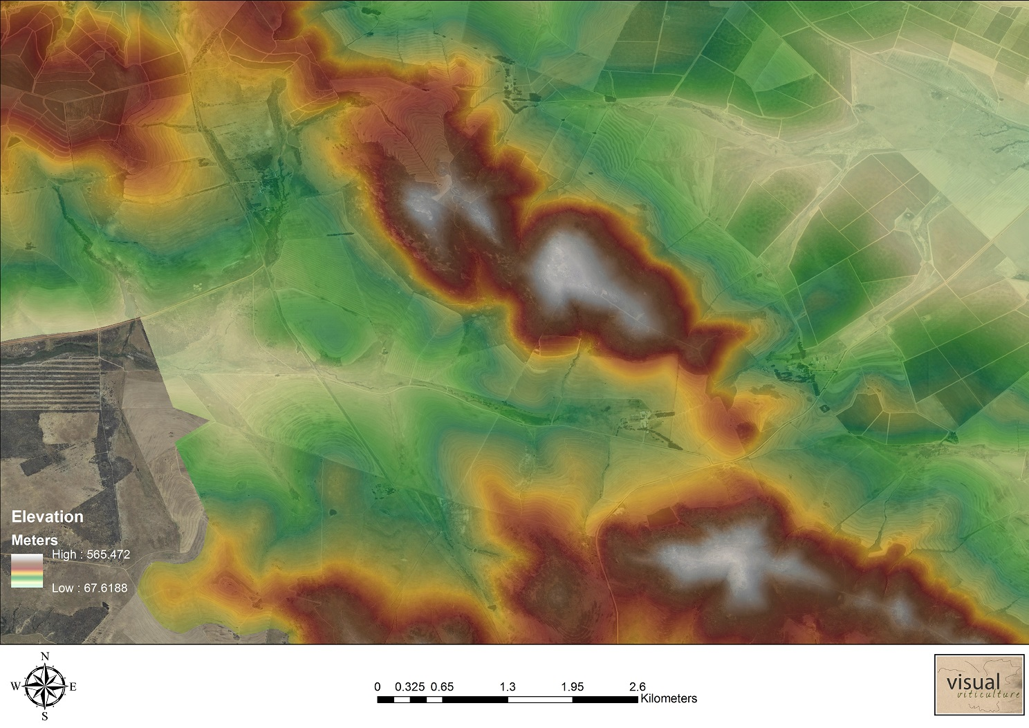 5m Elevation model on farm scale